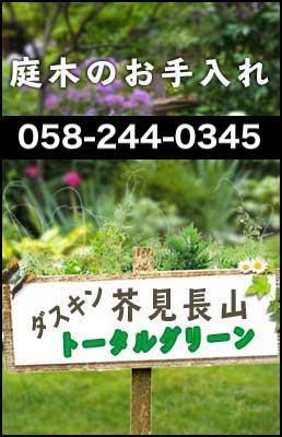 お庭や庭木の管理ならダスキン芥見長山トータルグリーンにお任せください。